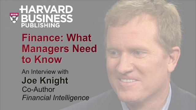 Finance: What Managers Need to Know