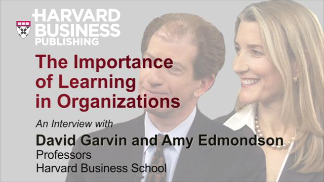 The Importance of Learning in Organizations