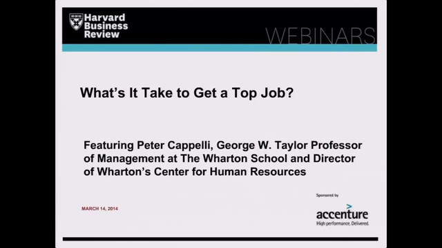 What's It Take to Get a Top Job?