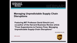 Managing Unpredictable Supply Chain Disruptions