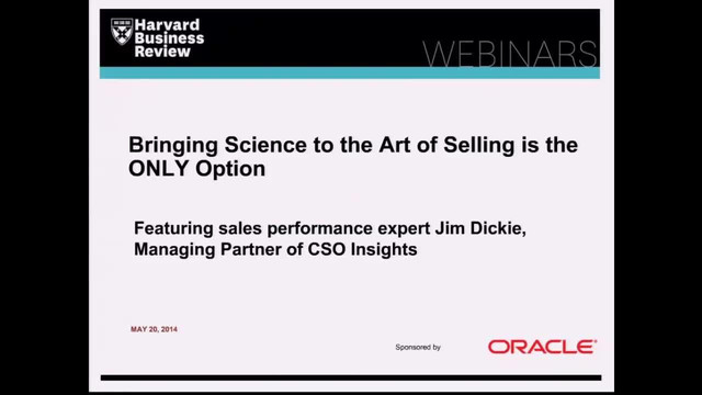 Bringing Science to the Art of Selling is the ONLY Option