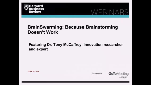 BrainSwarming: Because Brainstorming Doesn't Work