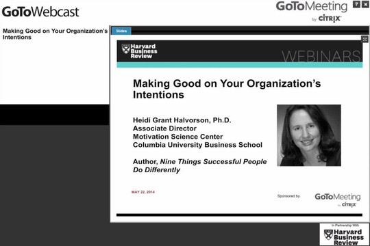 Making Good on Your Organization's Intentions