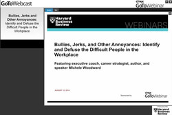 Bullies, Jerks and Other Annoyances: Identify and Defuse the Difficult People in the Workplace