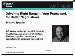 Drive the Right Bargain: Your Framework for Better Negotiations