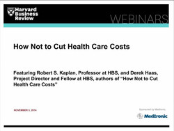 How Not to Cut Health Care Cost