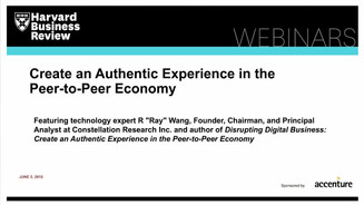 Book cover for Create an Authentic Experience in the Peer-to-Peer Economy