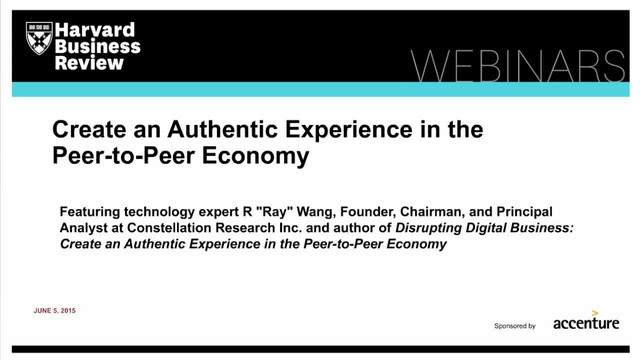 Create an Authentic Experience in the Peer-to-Peer Economy