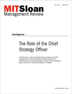 The Role of the Chief Strategy Officer