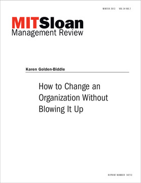 How to Change an Organization Without Blowing It Up