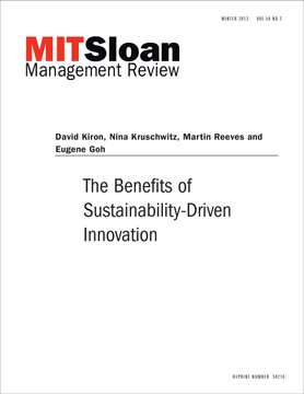The Benefits of Sustainability-Driven Innovation