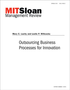 Outsourcing Business Processes for Innovation