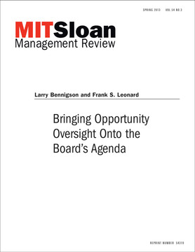 Bringing Opportunity Oversight Onto the Board's Agenda