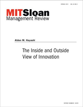 The Inside and Outside View of Innovation