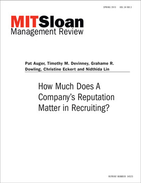 How Much Does A Company's Reputation Matter in Recruiting?