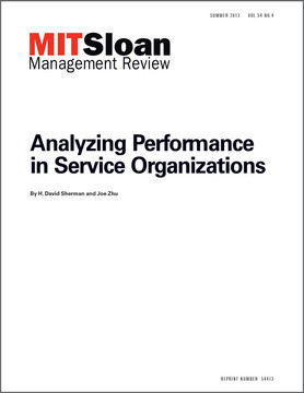 Analyzing Performance in Service Organizations