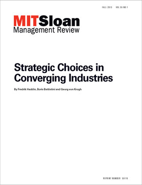 Strategic Choices in Converging Industries