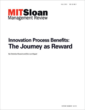 Innovation Process Benefits: The Journey as Reward