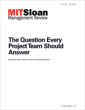 The Question Every Project Team Should Answer