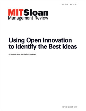 Using Open Innovation to Identify the Best Ideas