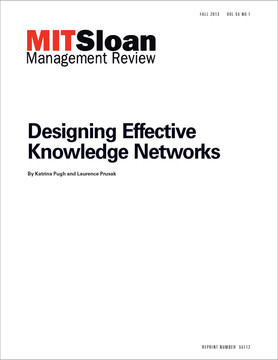 Designing Effective Knowledge Networks