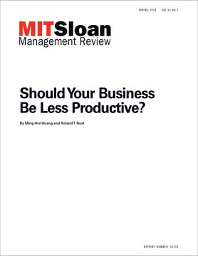 Should Your Business Be Less Productive?