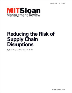 Reducing the Risk of Supply Chain Disruptions