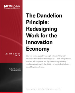 The Dandelion Principle: Redesigning Work for the Innovation Economy