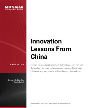 Innovation Lessons From China