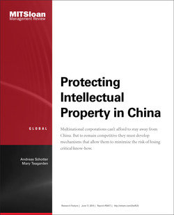 Protecting Intellectual Property in China