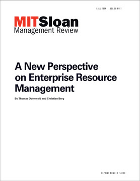 A New Perspective on Enterprise Resource Management