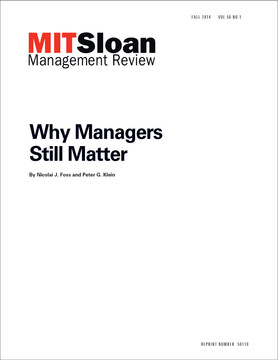 Why Managers Still Matter