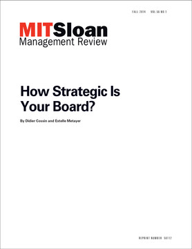 How Strategic Is Your Board?