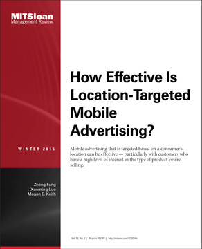 How Effective Is Location-Targeted Mobile Advertising?