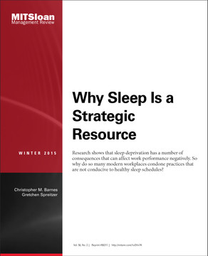 Why Sleep Is a Strategic Resource