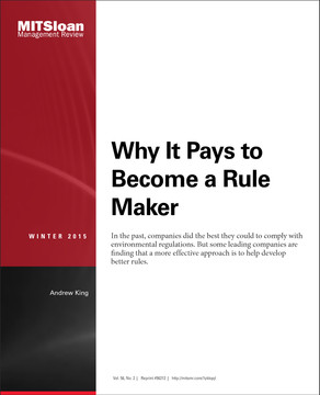 Why It Pays to Become a Rule Maker