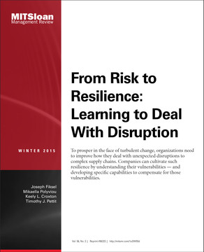 From Risk to Resilience: Learning to Deal With Disruption