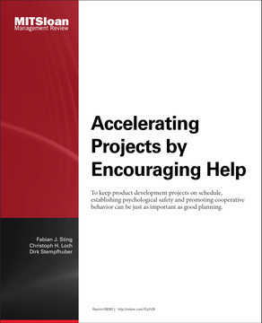 Accelerating Projects by Encouraging Help