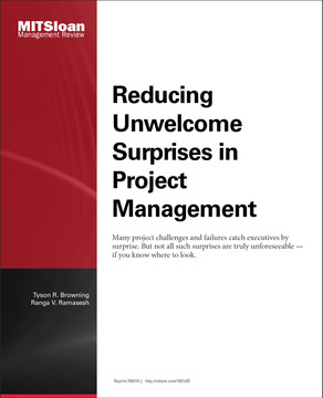 Reducing Unwelcome Surprises in Project Management