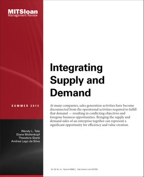 Integrating Supply and Demand