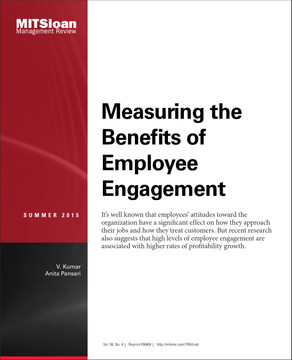 Measuring the Benefits of Employee Engagement