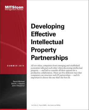Models of Intellectual Property Collaborations Between Mature and Emerging Market Companies