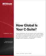 Cover of How Global Is Your C-Suite?