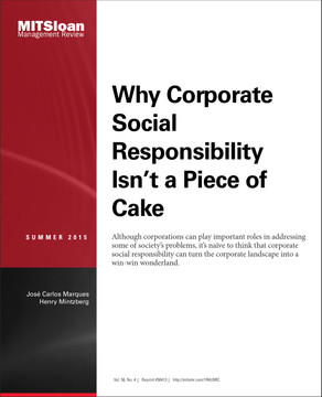 Why Corporate Social Responsibility Isn't a Piece of Cake