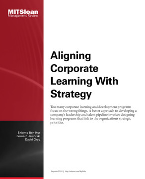 Aligning Corporate Learning with Strategy