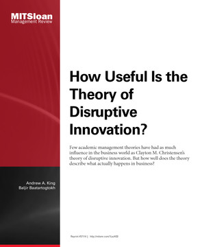 How Useful is the Theory of Disruptive Innovation?