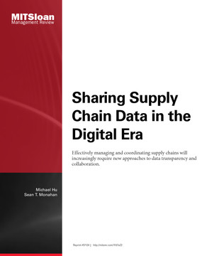 Sharing Supply Chain Data in the Digital Era