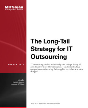 The Long-Tail Strategy of IT Outsourcing