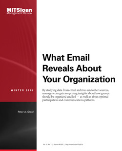 What Email Reveals About Your Organization