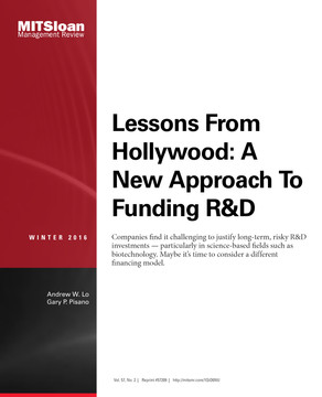 Lessons From Hollywood: A New Approach To Funding R&D